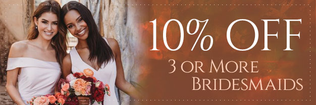 Sale - 10% Off Bridesmaids Dresses