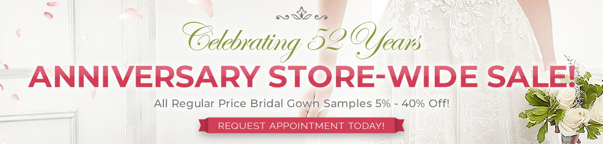 Bridal Gown Anniversary Sale